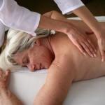 Senior women getting massage